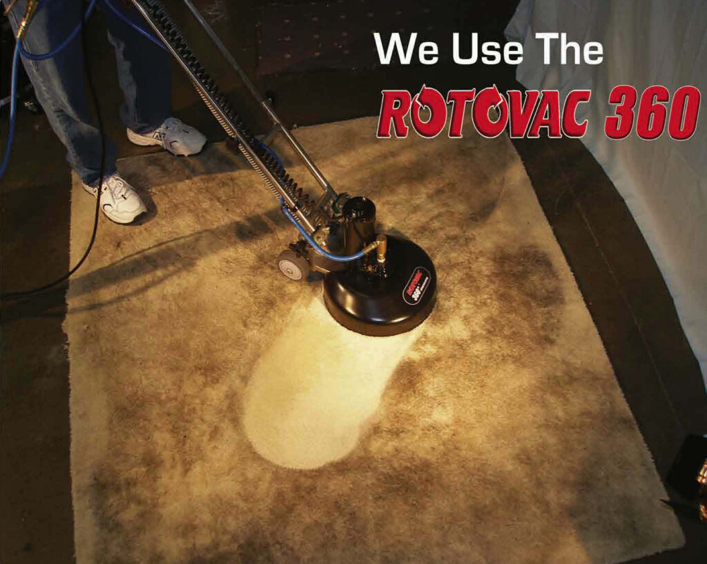 We use the Rotovac 360 to clean your carpets.