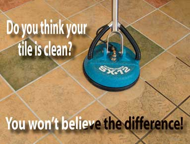 Do you think this tile is clean? You won't believe the difference! Tile and grout cleaning.